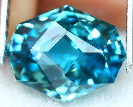 4.57Ct VVS Master Cut Natural Ratthanakiri Blue Zircon AT0741