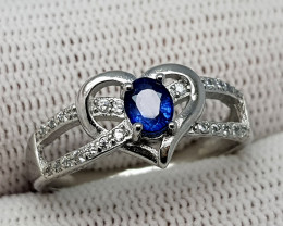 14.65CT SAPPHIRE 925 SILVER RING 7.5 SIZE BEST QUALITY GEMSTONE IGC004