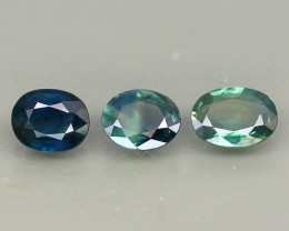 Lot Normal Heated Sapphires 3 pcs. - 2.21 ct