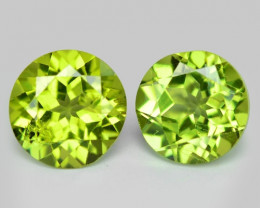 1.89 Cts 2pcs Pair Green Color Natural BURMA Peridot Gemstone
