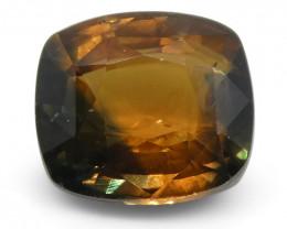 2.17ct Cushion Orange/Teal Green Parti Sapphire