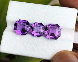 9.90 Ct Natural Purplish Transparent Amethyst Gemstones Parcels