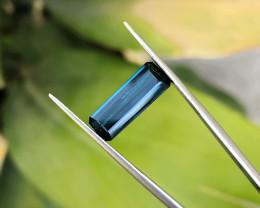 3.30 Ct Natural Dark  Blue Transparent Tourmaline Gemstone