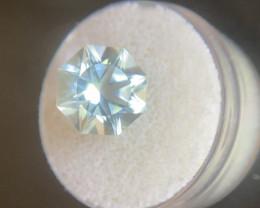 Aquamarine 5.44ct Fancy Round Cut Bright Blue Beryl Loose Gemstone 11mm