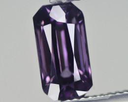 2.861 Cts Cylon SPINEL Purple grey Emerald Antique Step Cut BGC432