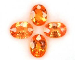 1.80 Cts Natural Fanta Orange Spessartite Garnet Oval 4Pcs Africa