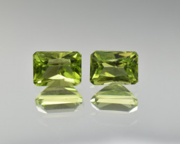 Natural Peridot Matched Pair 3.04 Cts, Pakistan