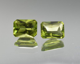 Natural Peridot Matched Pair 3.21 Cts, Pakistan