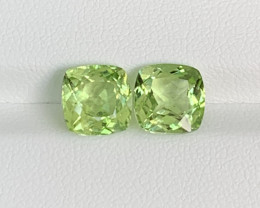 Natural Peridot Matched Pair 5.78 Cts, Pakistan