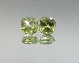 Natural Peridot Matched Pair 4.14 Cts, Pakistan