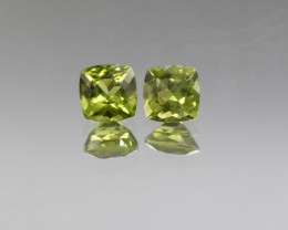 Natural Peridot Matched Pair 4.04 Cts, Pakistan