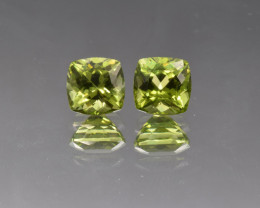 Natural Peridot Matched Pair 3.96 Cts, Pakistan
