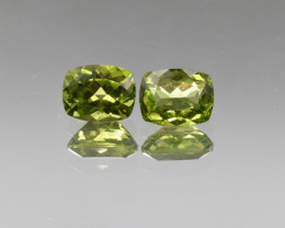 Natural Peridot Matched Pair 5.38 Cts, Pakistan