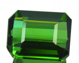 1.35 Cts Natural Neon Green Tourmaline Octagon Cut Nigeria