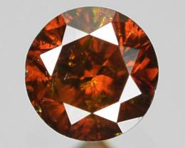 0.10 Sparkling Rare Fancy Orange Red Color Natural Loose Diamond