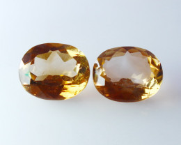 11.50 CT Natural - Unheated Brown Topaz Gemstone Pair