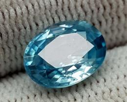 2.65CT NATURAL BLUE ZIRCON BEST QUALITY GEMSTONE IIGC005