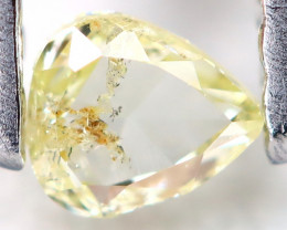 Light Yellow Diamond 0.12Ct Untreated Genuine Fancy Diamond C1206