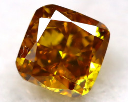 Yellowish Orange Diamond 0.10Ct Natural Untreated Fancy Diamond AT0756