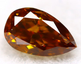 Reddish Orange Diamond 0.10Ct Untreated Genuine Fancy Diamond C1213