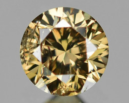 0.14 Cts Sparkling Rare Fancy Yellowish Brown Color Natural Loose Diamond