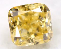 Light Yellow Diamond 0.11Ct Untreated Genuine Fancy Diamond C1215