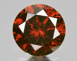 0.11 Cts Sparkling Rare Fancy Red Color Natural Loose Diamond