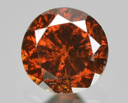 0.10 Cts Sparkling Rare Fancy Orange Red Color Natural Loose Diamond