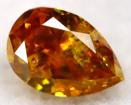 Reddish Orange Diamond 3.5mm Natural Untreated Fancy Diamond AT0781