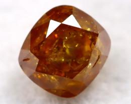 Reddish Orange Diamond 0.18Ct Natural Untreated Fancy Diamond AT0782