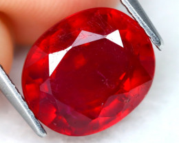Red Ruby 5.87Ct Oval Cut Pigeon Blood Red Ruby B1217