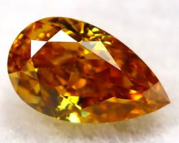 Reddish Orange Diamond 0.16Ct Natural Untreated Fancy Diamond AT0785