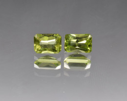 Natural Peridot Matched Pair 2.27 Cts, Pakistan