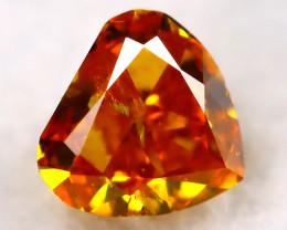 Reddish Orange Diamond 2.8mm Natural Untreated Fancy Diamond AT0787