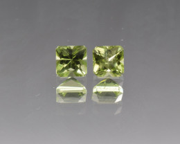 Natural Peridot Matched Pair 1.82 Cts, Pakistan