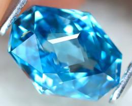 2.97Ct VVS Master Cut Natural Ratthanakiri Blue Zircon AT0801