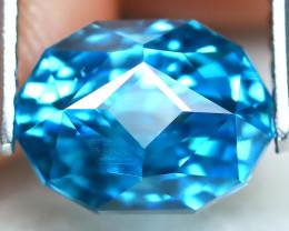3.69Ct VVS Master Cut Natural Ratthanakiri Blue Zircon AT0802