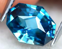2.71Ct VVS Master Cut Natural Ratthanakiri Blue Zircon AT0803