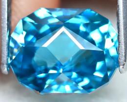 3.23Ct VVS Master Cut Natural Ratthanakiri Blue Zircon AT0804