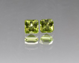 Natural Peridot Matched Pair 1.67 Cts, Pakistan