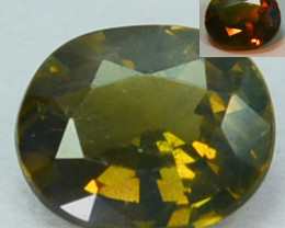 0.35 Cts Natural Color Change Alexandrite  Oval Gem India