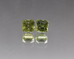 Natural Peridot Matched Pair 1.94 Cts, Pakistan