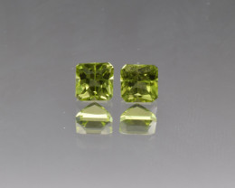 Natural Peridot Matched Pair 1.90 Cts, Pakistan
