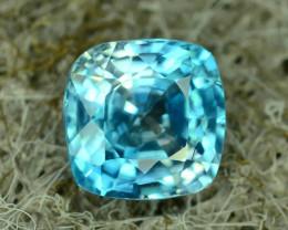 AAA Brilliance 1.60 ct Blue Zircon Cambodia ~K