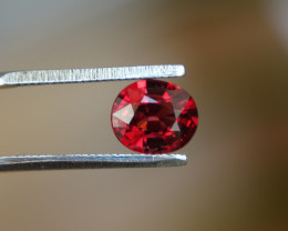 1.45ct  Intense - Vivid Orangy-Red Spinel ! - VS -
