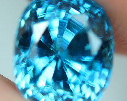 5.37 CT Wonderful Sparkling Lustrous Natural Blue Zircon