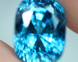 9.78 ct rare color !! Blue Zircon, Bright Glowing sweet blue