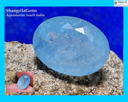 12.2mm Aquamarine oval faceted gem sky Blue unheated from Tamil Nadu India