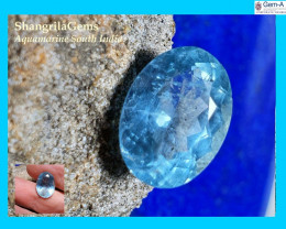 14.6mm Aquamarine oval faceted gem sky Blue unheated from Tamil Nadu India