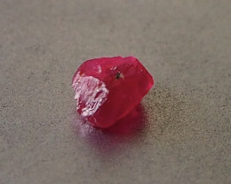 1.39ct unheated Myanmar ruby rough
